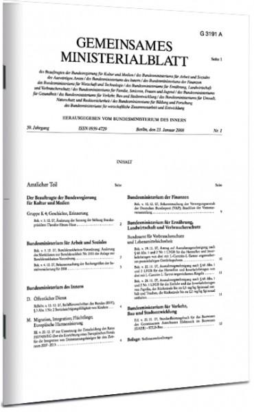 Gemeinsames Ministerialblatt (GMBl)