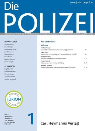 Die Polizei - Heft 1|2018