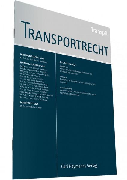 Transportrecht - Heft 11-12|2018