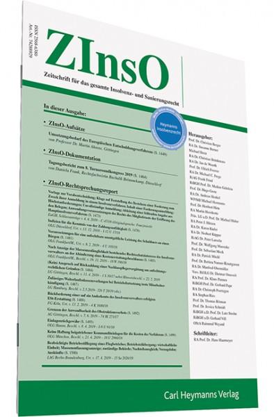 ZInsO - Zeitschrift für das gesamte Insolvenz- und Sanierungsrecht (Probeabonnement - 2 Hefte)