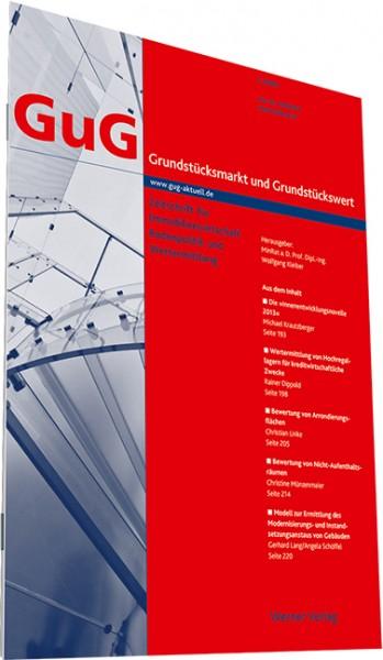Download-Archiv der GuG (Grundstücksmarkt und Grundstückswert)