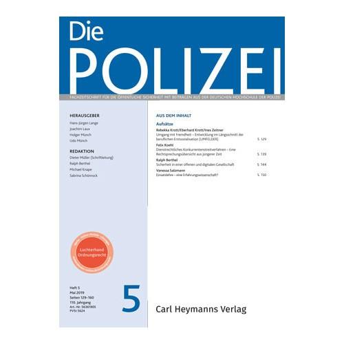 Die Polizei - Heft 5|2019
