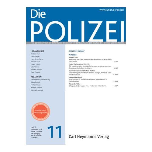 Die Polizei - Heft 11|2018
