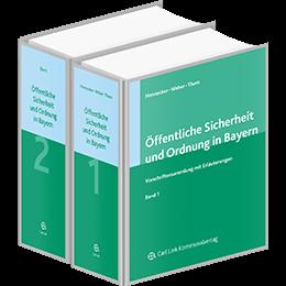 Öffentliche Sicherheit und Ordnung in Bayern (Bände 1-3)