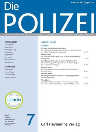 Die Polizei - Heft 7 2018