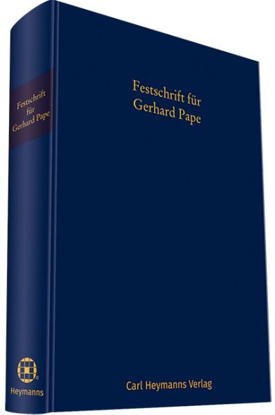 Festschrift für Gerhard Pape