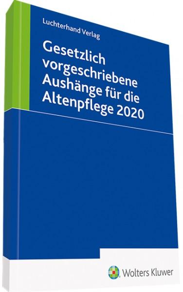 Gesetzlich vorgeschriebene Aushänge für die Altenpflege 2020