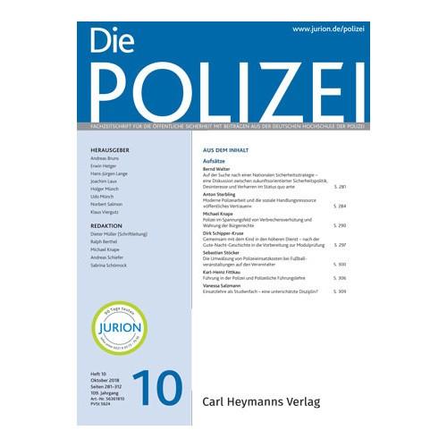 Die Polizei - Heft 10|2018