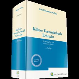 Kölner Formularbuch Erbrecht