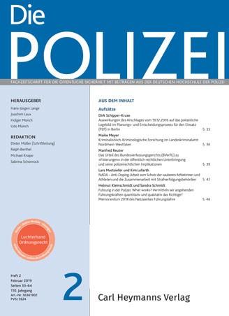 Die Polizei - Heft 2|2019