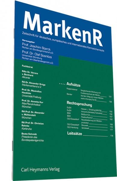 MarkenR - Markenrecht - Einbanddecke 2018