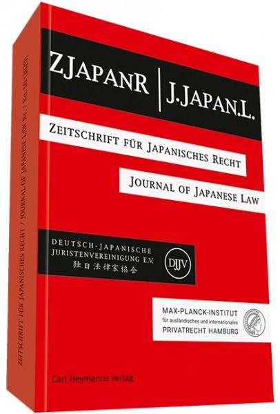 ZJapanR - Zeitschrift für Japanisches Recht J.Japan.L. - Journal of Japanese Law