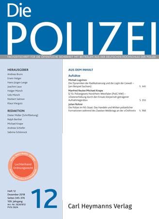 Die Polizei - Heft 12|2018