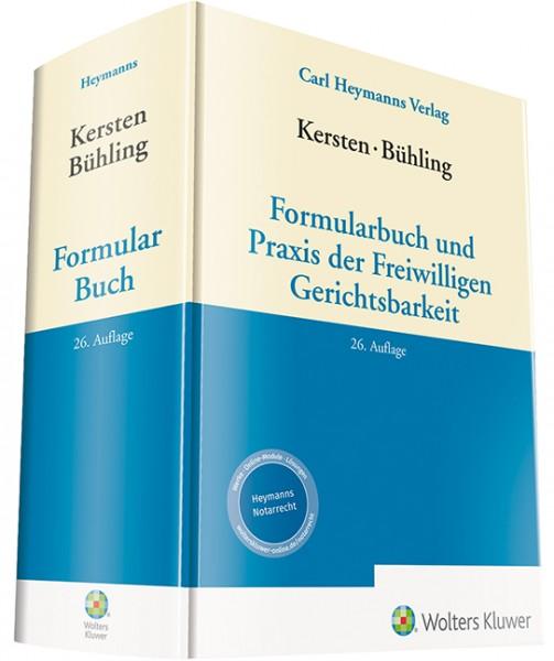 Kersten / Bühling, Formularbuch und Praxis der Freiwilligen Gerichtsbarkeit
