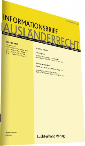 Informationsbrief Ausländerrecht - Ausgabe 4|2019