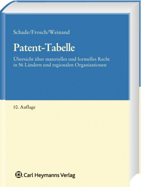 Patent-Tabelle