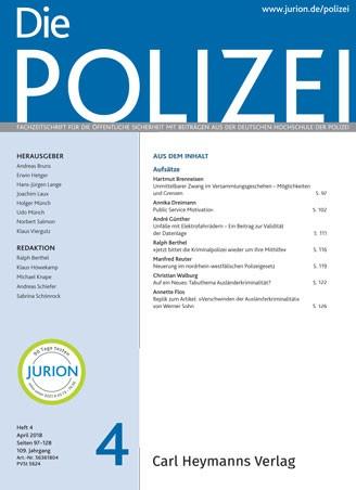 Die Polizei - Heft 4|2018