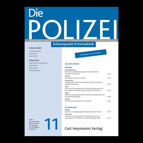 Die Polizei - Heft 11|2020