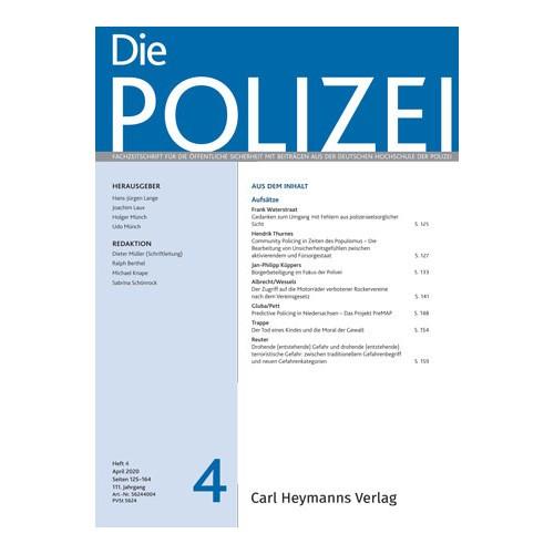 Die Polizei - Heft 4|2020
