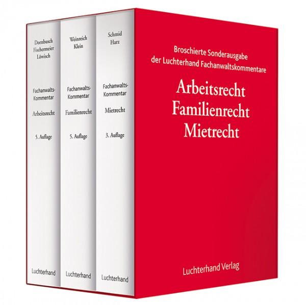 Broschierte Sonderausgabe der Luchterhand Fachanwaltskommentare Arbeitsrecht, Familienrecht, Mietrecht