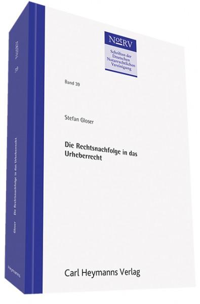 Die Rechtsnachfolge in das Urheberrecht (NotRV 39)