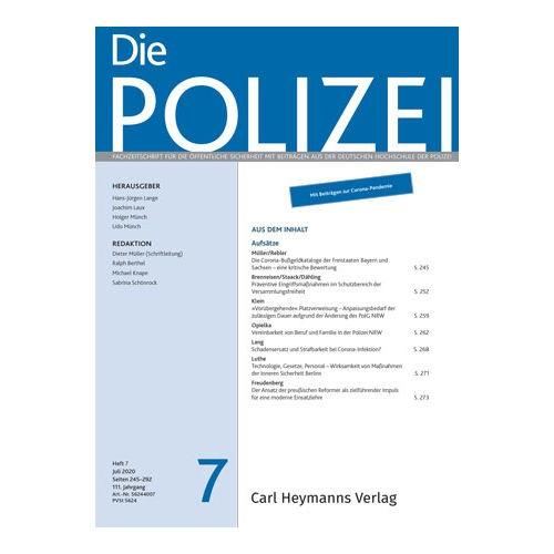 Die Polizei - Heft 7|2020