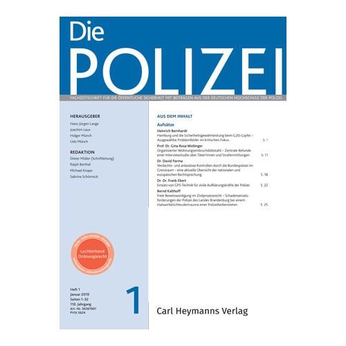 Die Polizei - Heft 1|2019