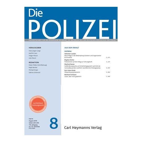 Die Polizei - Heft 8|2019