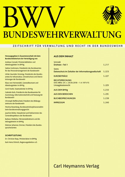 Bundeswehrverwaltung - Heft 9|2018