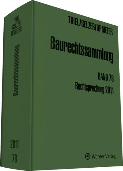 Baurechtssammlung Band 78