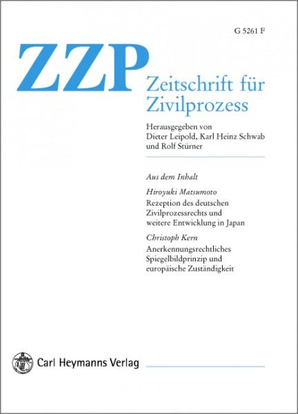 ZZP - Zeitschrift für Zivilprozess - Heft 3|2018