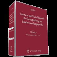 Buchholz, Sammel- und Nachschlagewerk der Rechtsprechung des Bundesverwaltungsgerichts - Gesamtausga