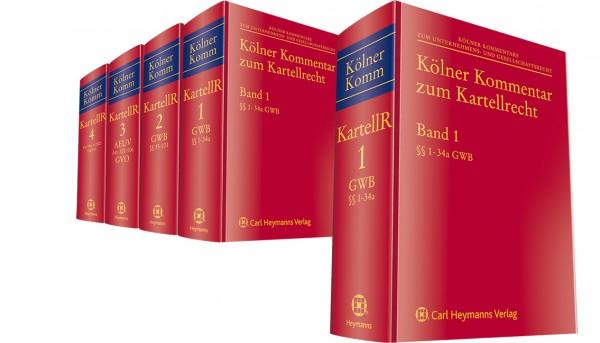 Kölner Kommentar zum Kartellrecht Bände 1-4