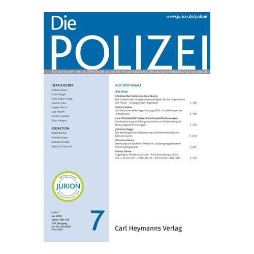 Die Polizei - Heft 7|2018