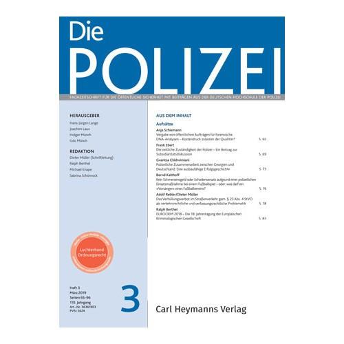 Die Polizei - Heft 3|2019