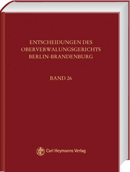 Entscheidungen des Oberverwaltungsgerichts Berlin-Brandenburg (OVGE) Bd 27 gebunden
