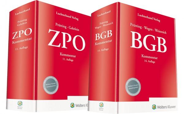 Bundle BGB Kommentar 14. Auflage und ZPO Kommentar 11. Auflage