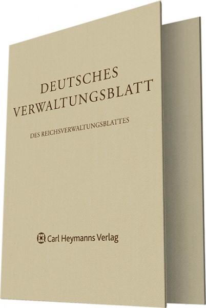Deutsches Verwaltungsblatt Einbanddecke 2017
