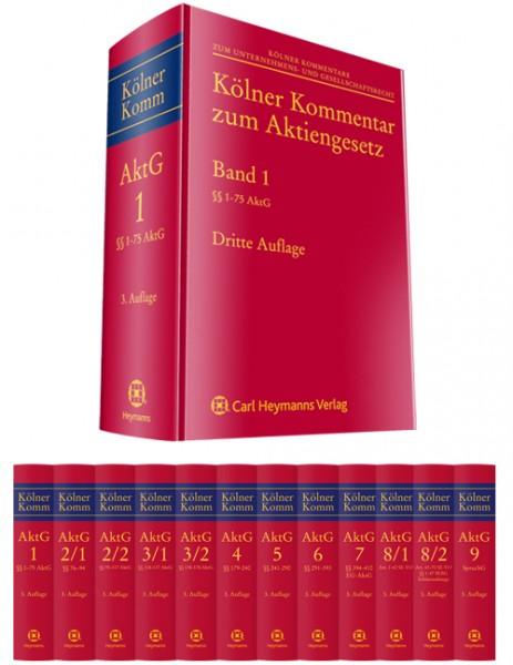 Kölner Kommentar zum Aktiengesetz Bände 1-9