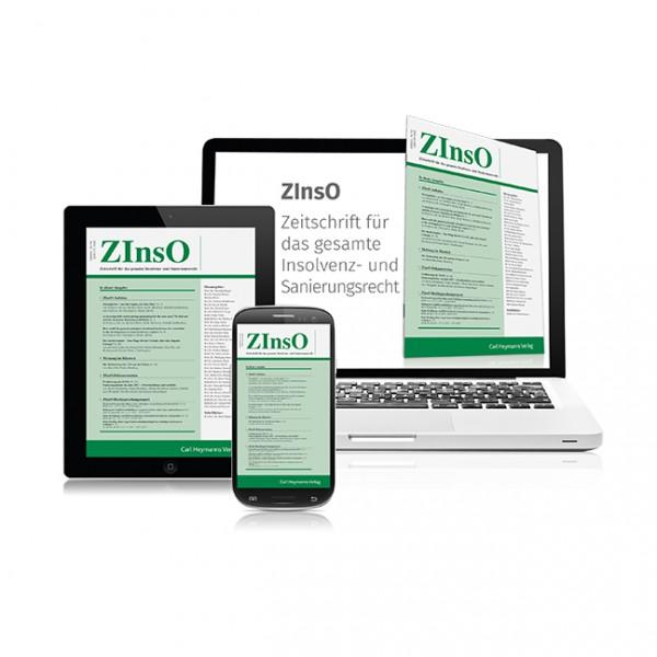 ZInsO - Zeitschrift für das gesamte Insolvenz- und Sanierungsrecht