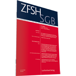ZfSH / SGB - Zeitschrift für die sozialrechtliche Praxis