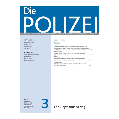 Die Polizei - Heft 3|2020