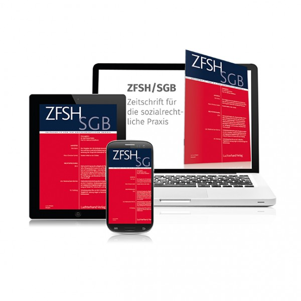 ZFSH / SGB - Zeitschrift für die sozialrechtliche Praxis - Heft 5|2019