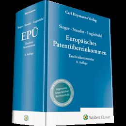 Singer / Stauder / Luginbühl, EPÜ - Europäisches Patentübereinkommen