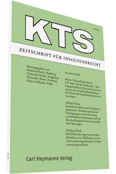 KTS - Zeitschrift für Insolvenzrecht - Heft 2|2018