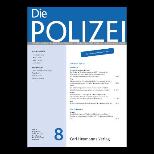 Die Polizei - Heft 8|2020