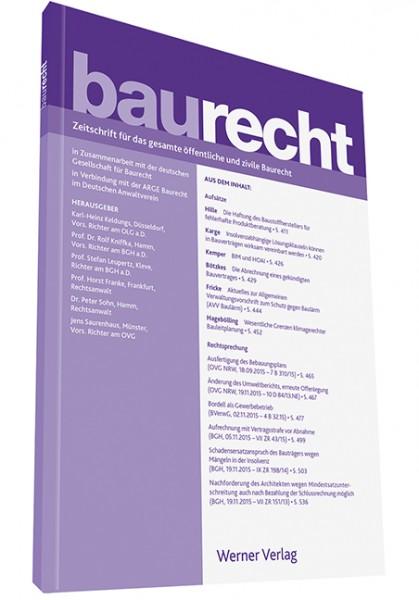 baurecht (BauR) als Download-Archiv (Sonderpreis für Bezieher der Zeitschrift baurecht oder der Baurechtssammlung)