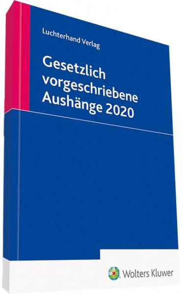 Gesetzlich vorgeschriebene Aushänge 2020