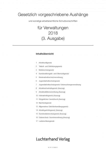 Gesetzlich vorgeschriebene Aushänge für Verwaltungen