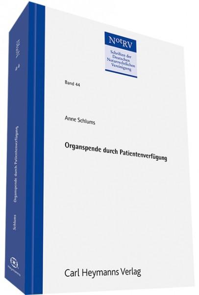 Organspende durch Patientenverfügung (NotRV 44)
